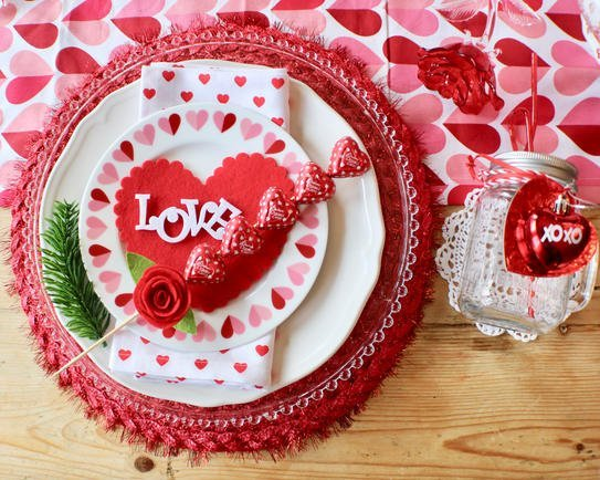 I Heart Valentine's Tablescape - Gallery Slide #9