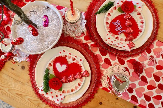 I Heart Valentine's Tablescape - Gallery Slide #2