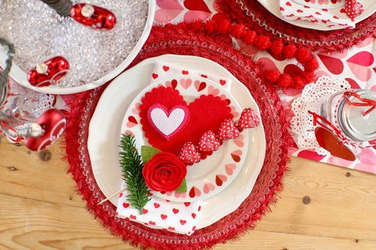 I Heart Valentine's Tablescape - Gallery Slide #3