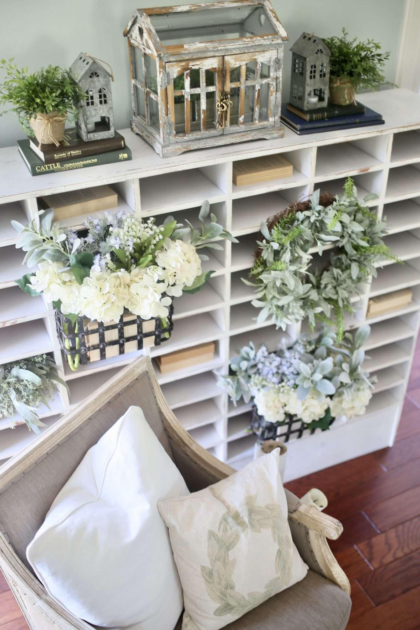 Living Room Cubby Shelf