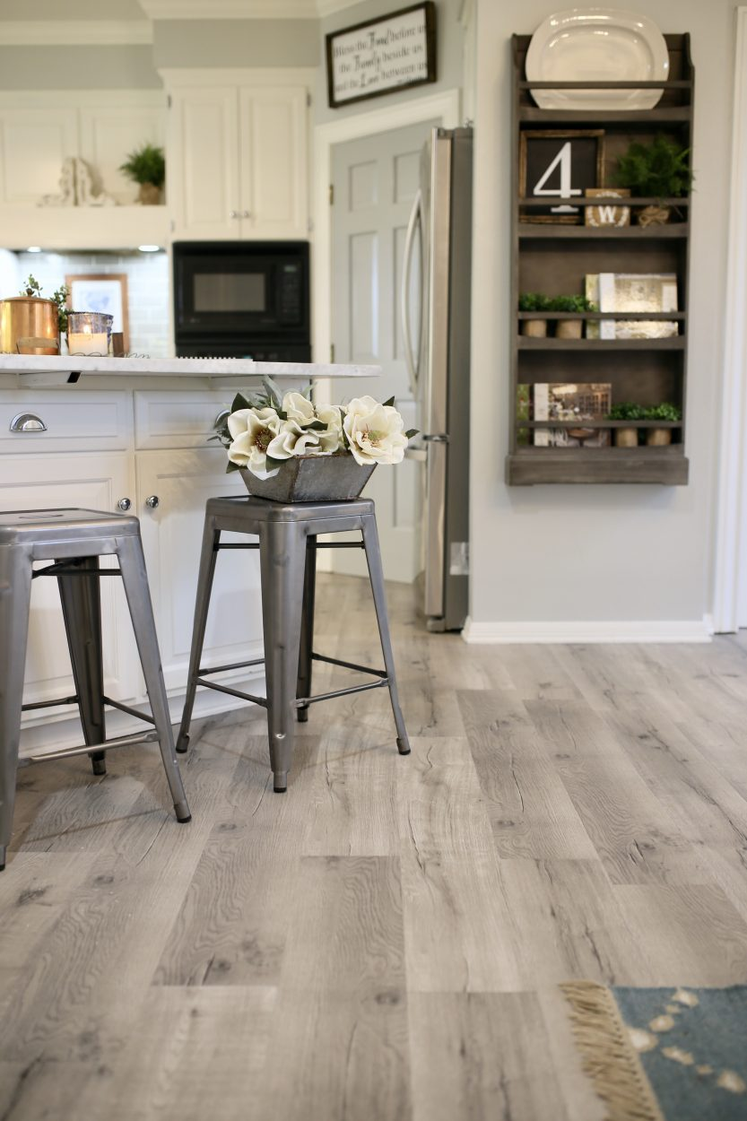 Updating a kitchen with vinyl engineered plank flooring