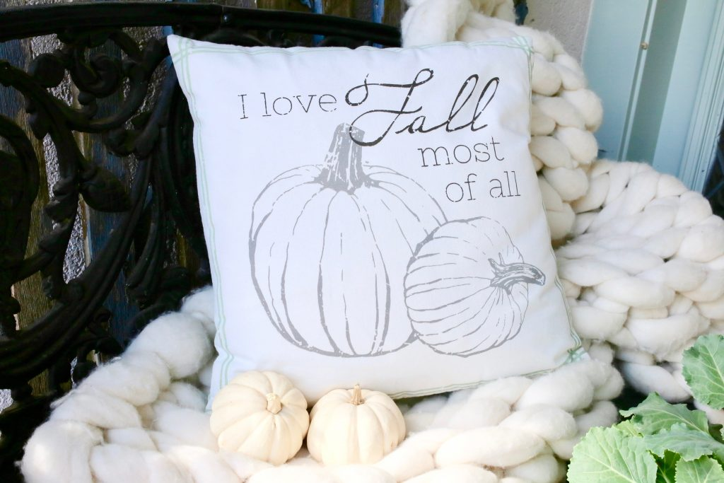 fall pillows for front porch