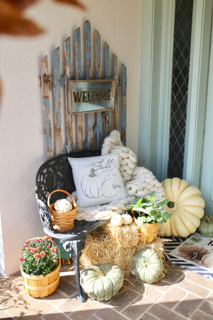 cozy front porch for fall