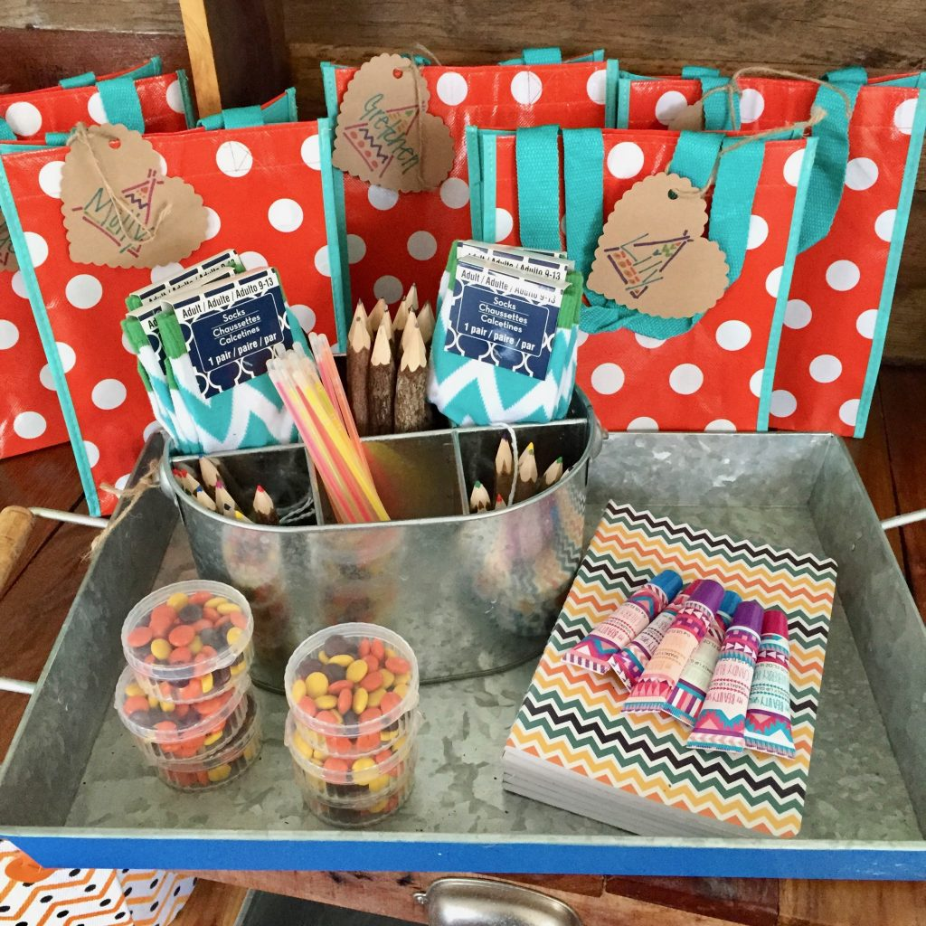 glamping birthday party scavenger hunt