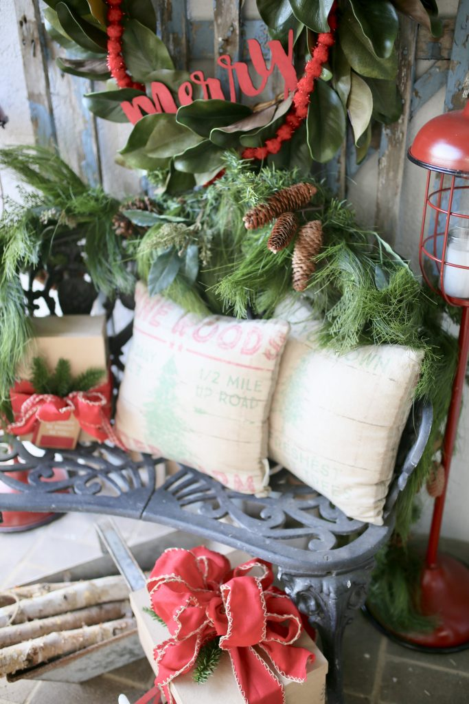 Christmas decorations for front porch