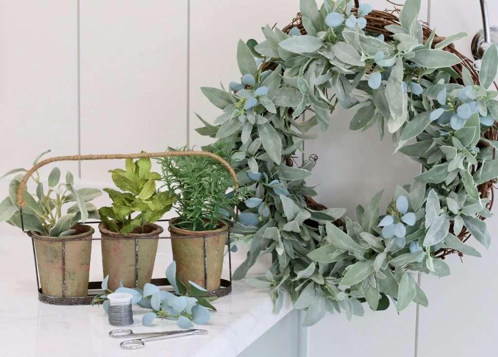 DIY herb wreath