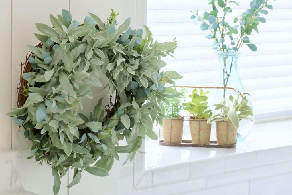 DIY herb eucalyptus wreath