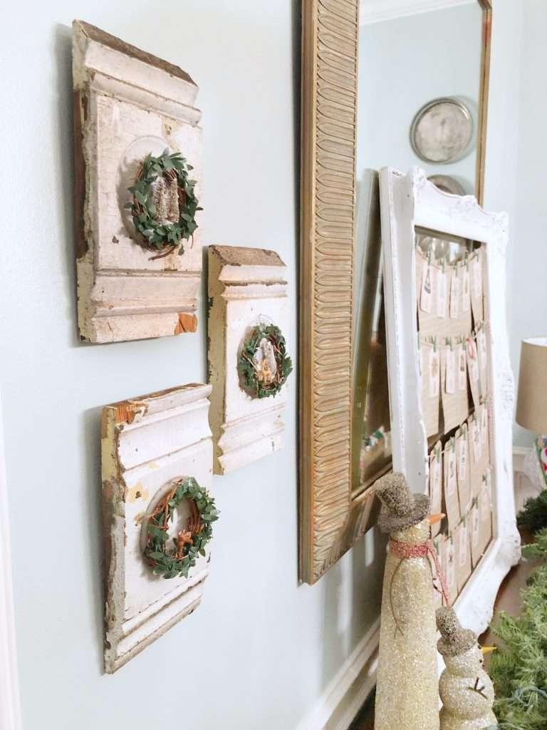 architectural finds, mini wreath