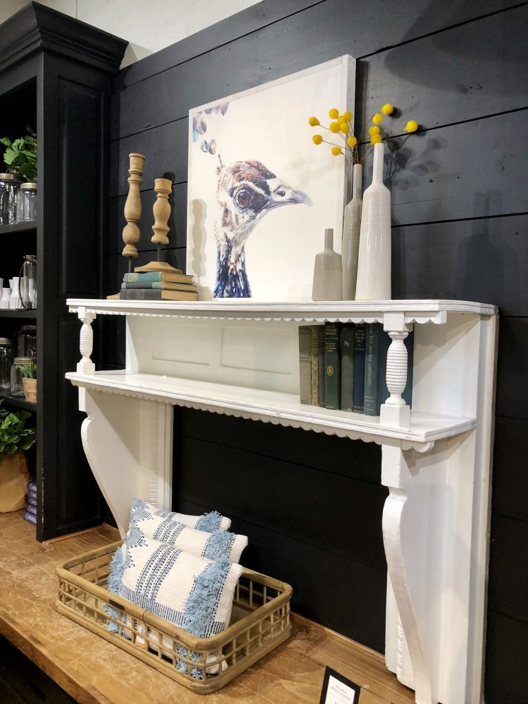magnolia market fireplace mantle