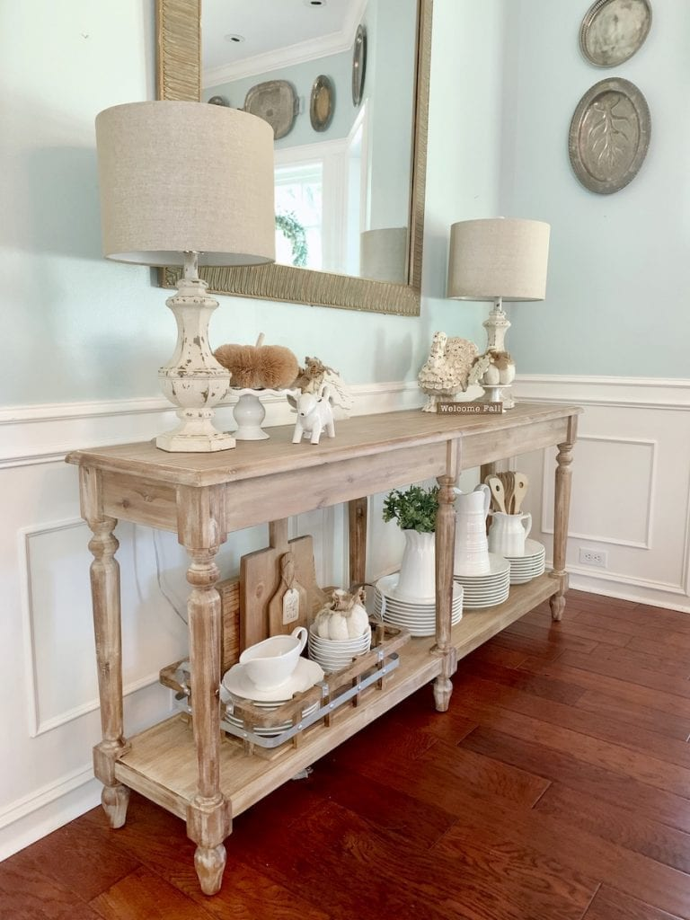 5 Ways To Style A Wood Console Table