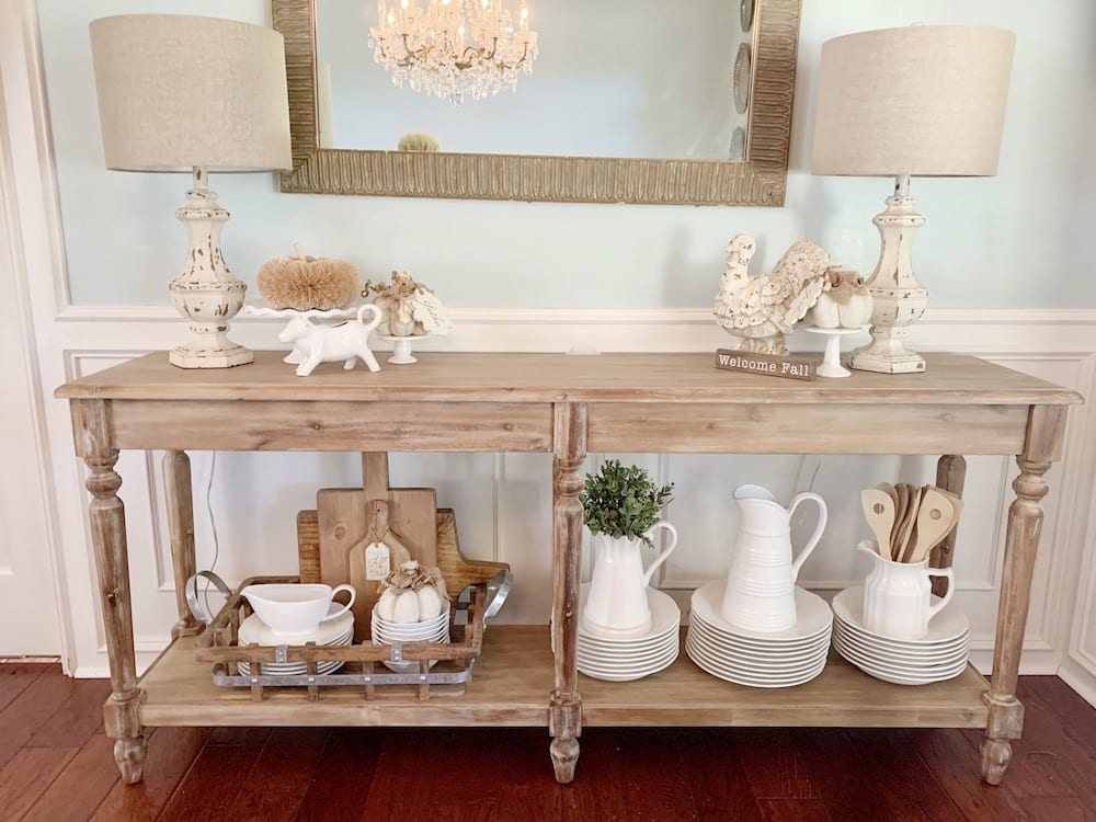 5 Ways To Style A Wood Console Table Cutertudor - What Is A Tall Console Table Called